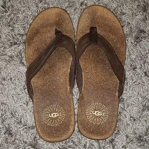 Mens UGG flip flops